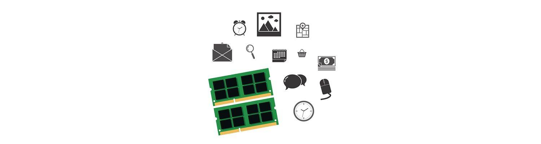 パソコンのパーツとソーシャルのアイコン