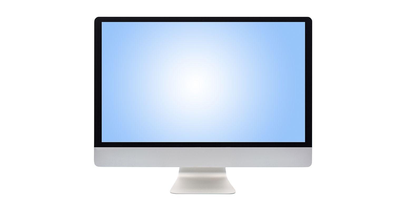 コンピューターのモニター。