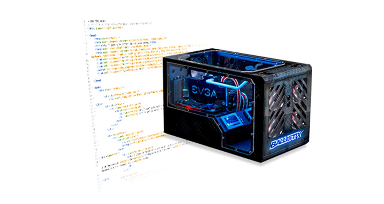 改造されたゲーミングコンピュータ