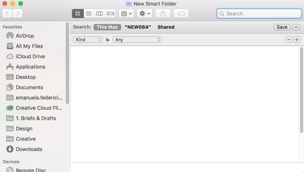 スマートフォルダの画面