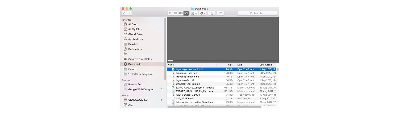 Apple Macの[ダウンロード]フォルダー