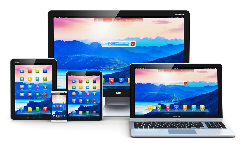 デスクトップパソコン、ノートブック、タブレット、スマートフォン
