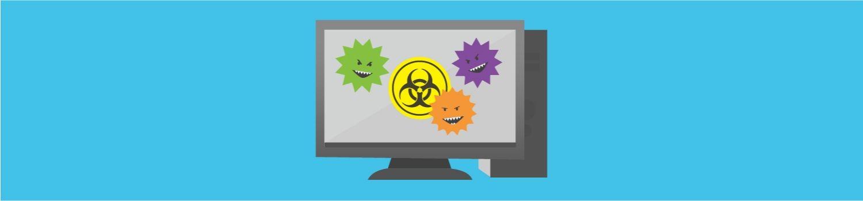 デスクトップPCを攻撃するコンピューターウイルス。